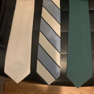 Three vintage ties Don't have makers mark on them